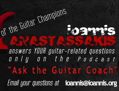 "[VIDEO] Ask the Guitar Coach INT 045 – ""How to organize my study of guitar licks and music phrases?"""